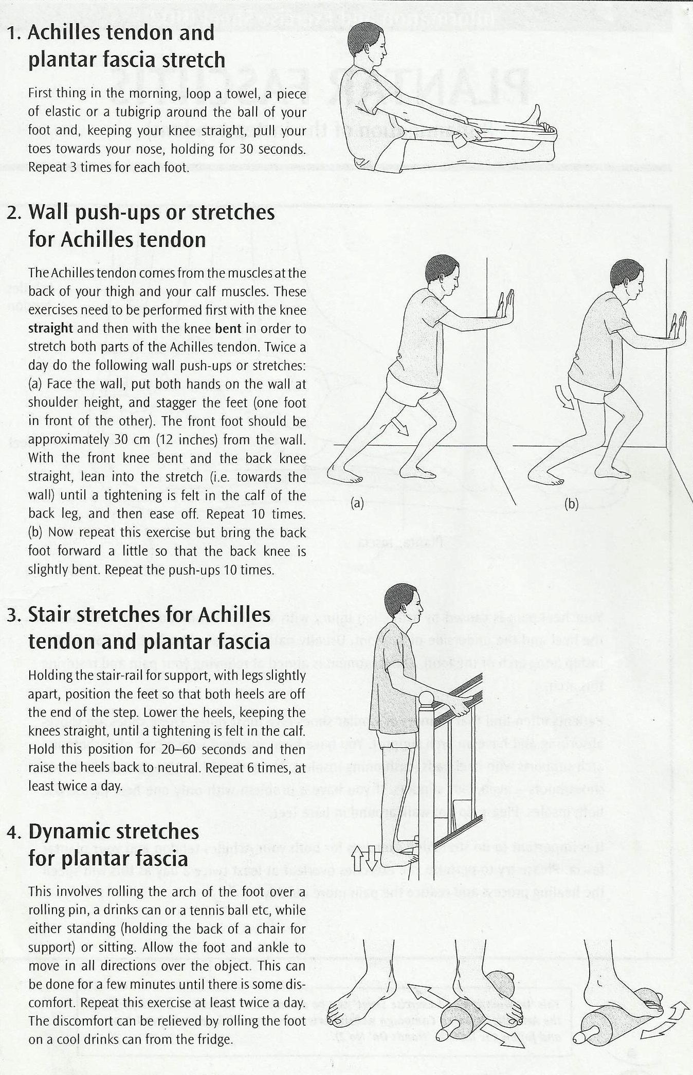Plantar Fascia Exercises